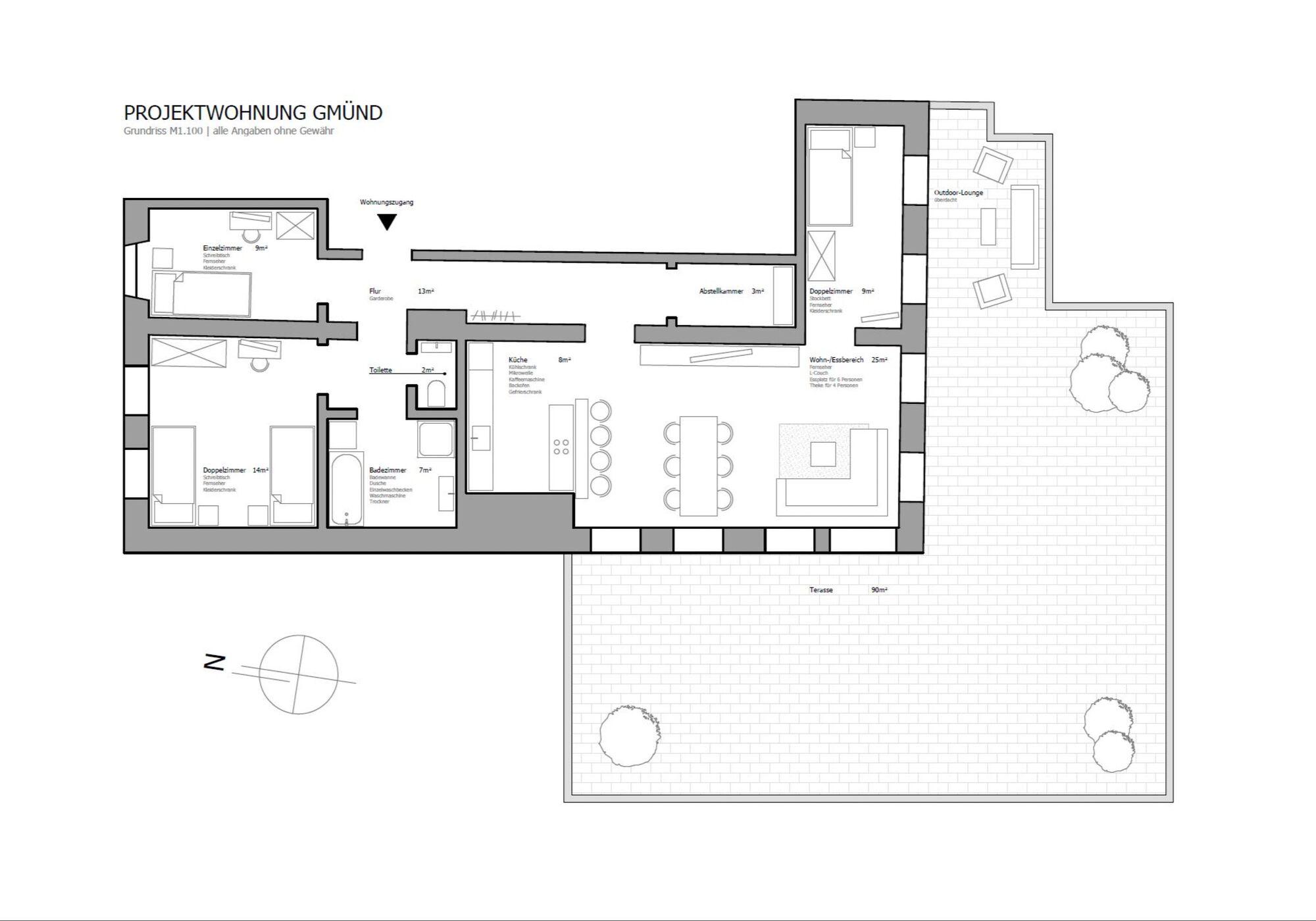 Projektwohnung Schwäbisch Gmünd, Monteurzimmer in